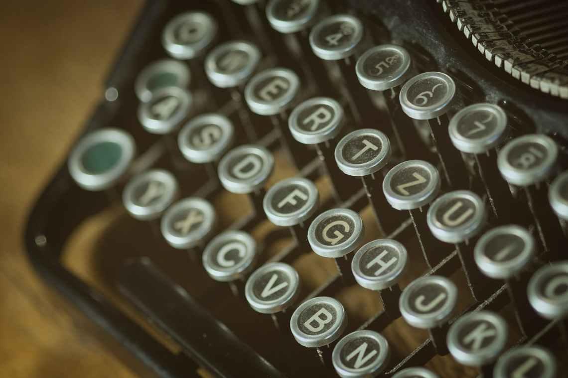 vintage letters typo vintage typewriter